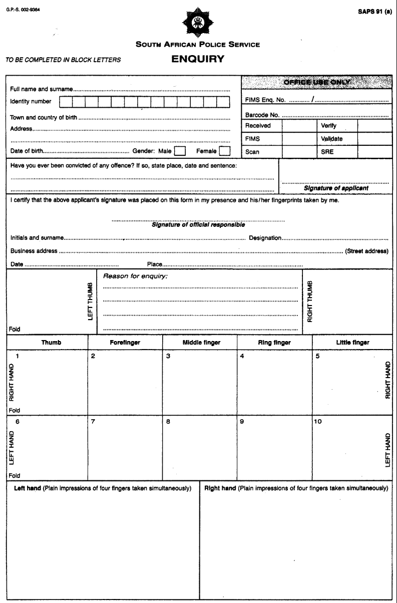 vehicle service record form