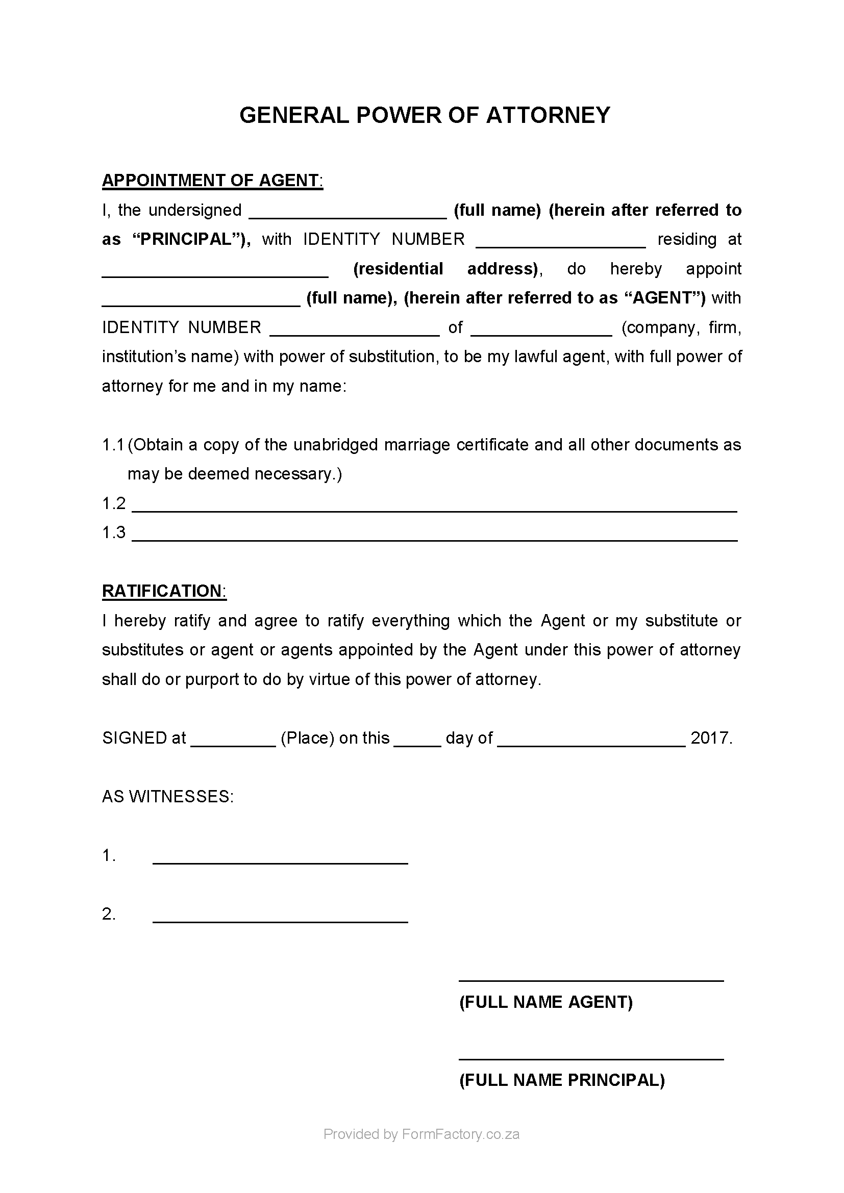 Download general power of attorney form formfactory download general power of attorney form falaconquin