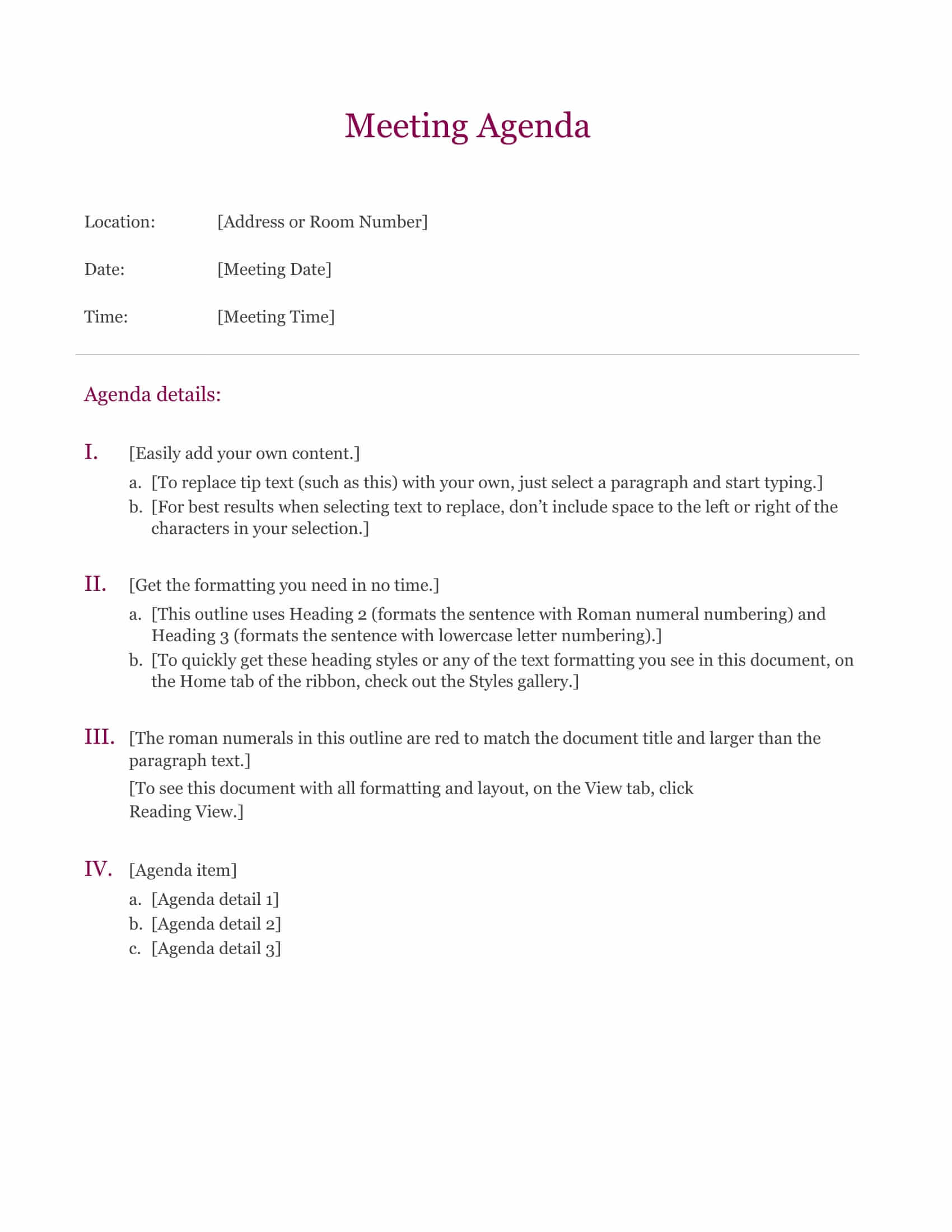 download a meeting agenda template