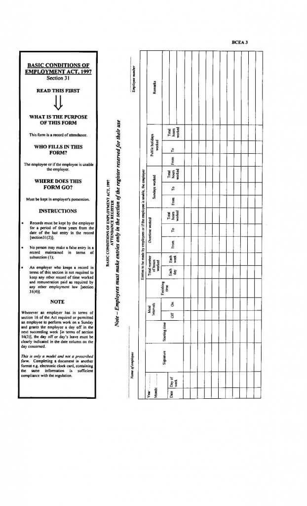 download an attendance register template