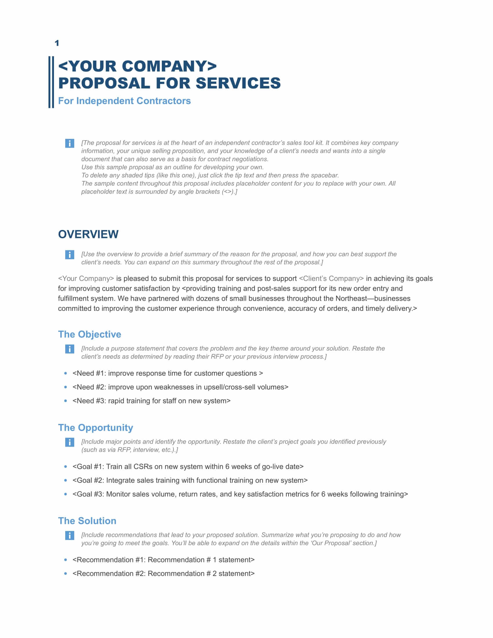 Download a free business proposal template formfactory search accmission